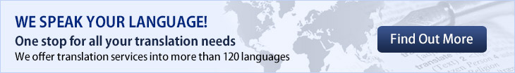 We offer translation services into more than 120 l